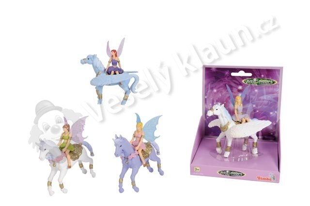 Figurka Magic Fairies na koni - 3777
