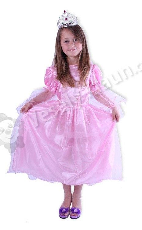 Hračka karnevalový kostým - šaty růžová princezna 1248ceb8ddc